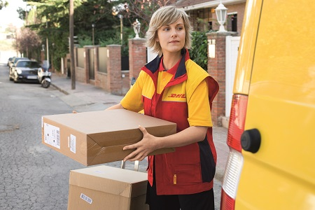 DHL-Paketkurier