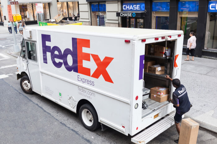 FedEx Lieferwagen in New York