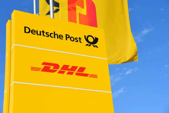 Deutsche Post DHL Group Schild