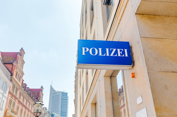Polizeistation in Leipzig