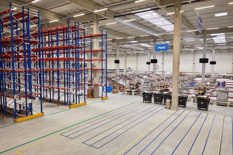 Flaconi Logistikzentrum Halle