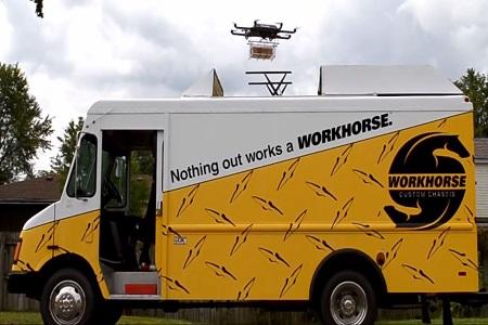 UPS bestellt Workhorse: Transporter mit integrierten Drohnen