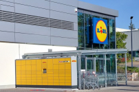 Packstationen an Lidl-Filiale