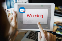 Mail mit Warning Pop-Up
