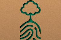 Grüner Fingerabdruck Baum