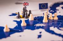 Schachfiguren Brexit-Konzept