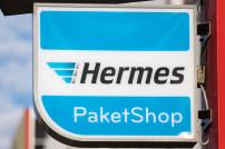Hermes Paketshop Schild