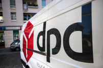 DPD Logo an Lieferfahrzeug