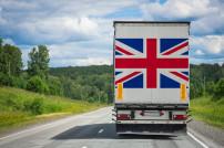 Lkw mit UK Flagge