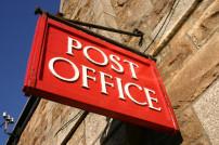 Rotes Britische Post Schild