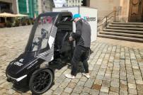 Citkar Lastenrad Loadster fährt für Hermes in Dresden