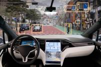 autonomes Fahrzeug von Innen