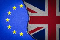 EU und britische Flaggen Brexit