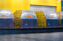 DHL-Container mit Impfstoff gegen Coronavirus