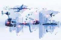Konzept der vernetzten globalen Transports