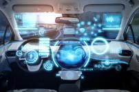 Cockpit des futuristischen autonomen Autos