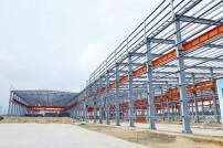 Halle im Bau Stahlkonstruktion