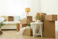 Verpackte Möbel