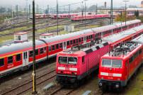 Züge der Deutschen Bahn stehen still