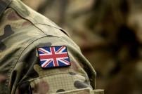 Flagge des Vereinigten Königreichs auf militärischer Uniform