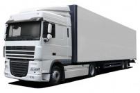 Weißer LKW zur Paketauslieferung