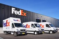 Lieferfahrzeuge von FedEx