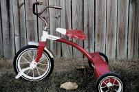 Rotes Dreirad