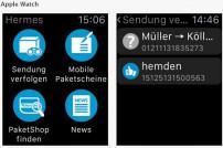 Screenshot iTunes - Hermes Paket - Mobiler Paketschein, Sendungsverfolgung, PaketShop-Finder, Versand